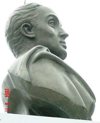 El Bolivar de la Plaza Bolivar de Manta, Ecuador