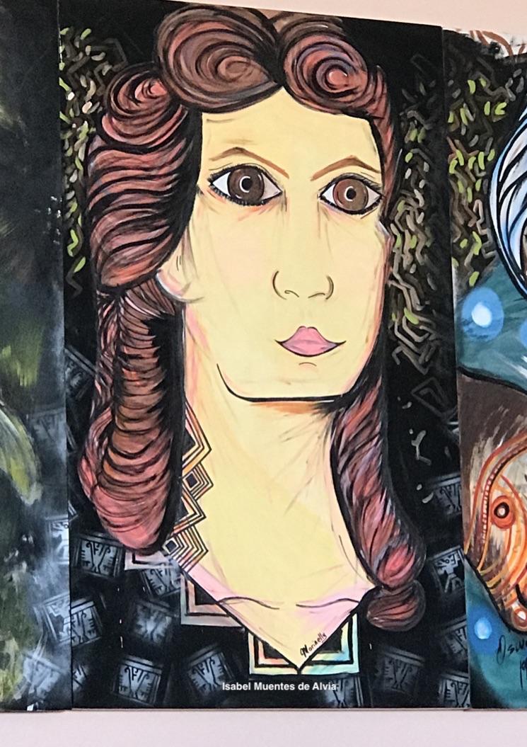 Isabel Muentes, pintura