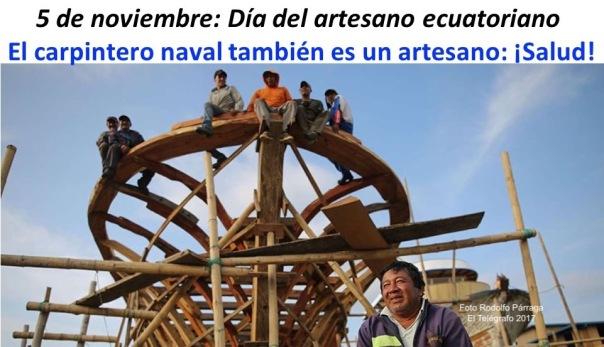 Artesano, carpintero naval