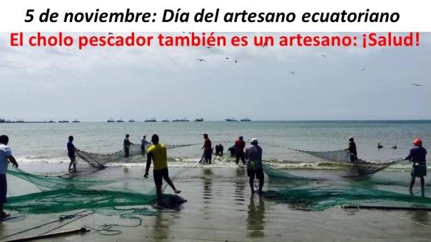 Artesano, cholo pescador