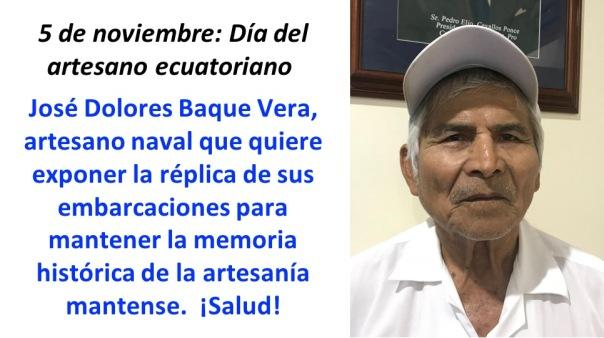 Artesano Jose Baque