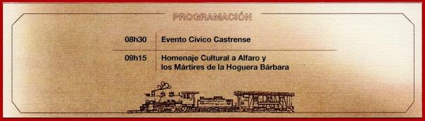 El Centro Cívico Ciudad Alfaro, Ministerio de Defensa, Ministerio de Cultura y Patrimonio tributan homenaje al Gral Alfaro.